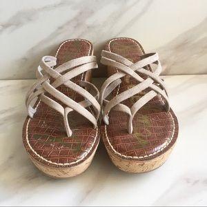 SAM EDELMAN Randy 3D Wedge Strappy Sandals